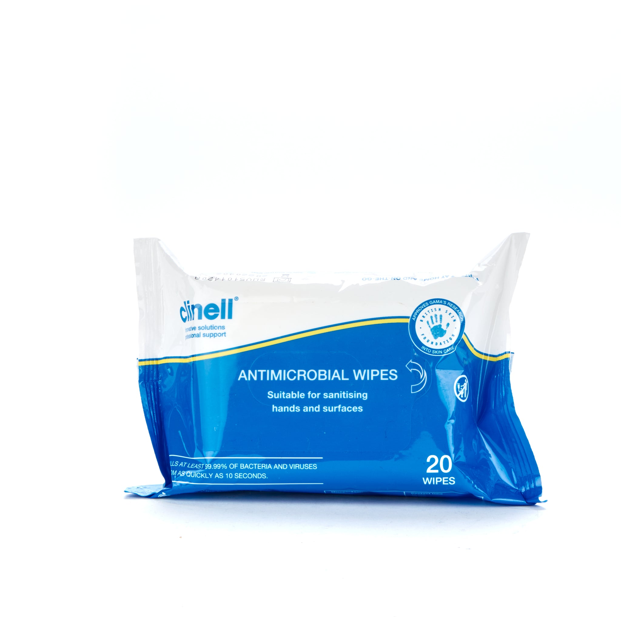 Clinell Antimicrobial Hand and Surface Wipes 20 RAW20