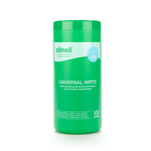 Clinell Universal Wipes 100 Tub CWTUB100