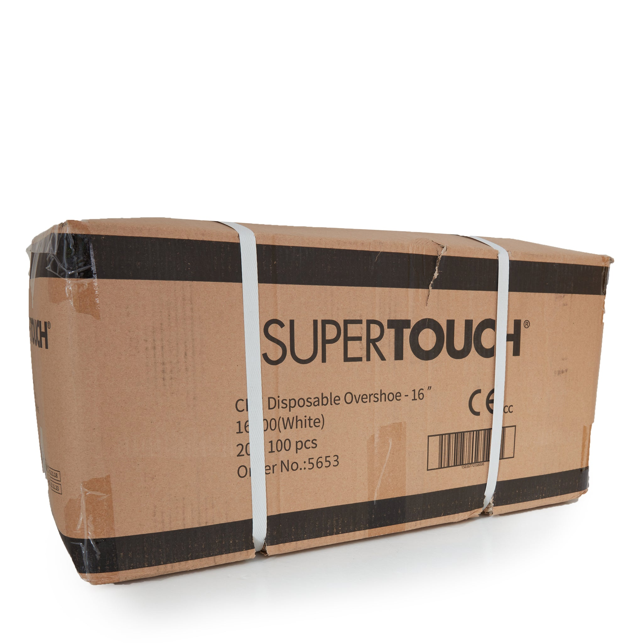SuperTouch Disposable CPE Overshoes | Single Size, White