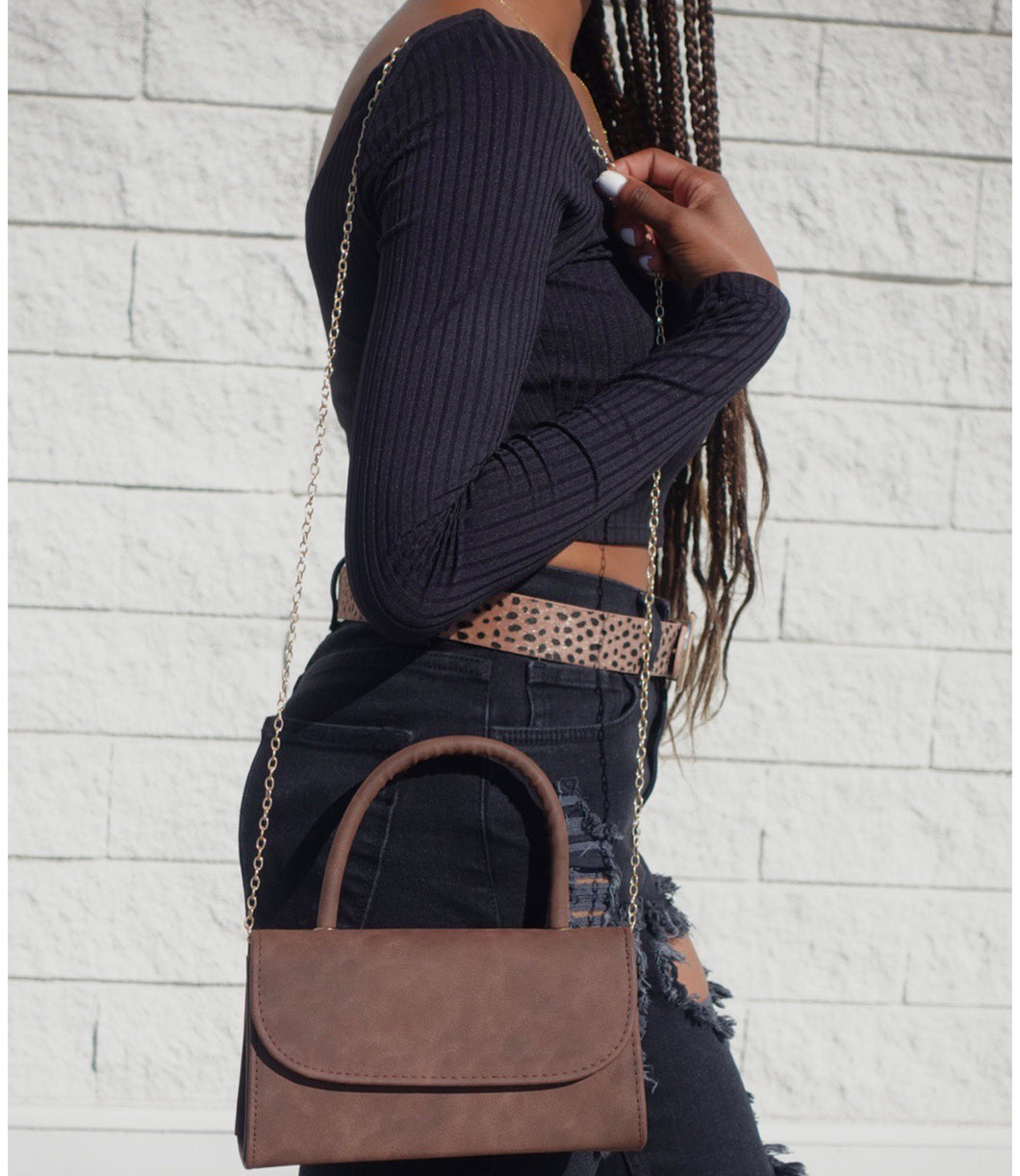 Topanga Crossbody bag(Brown)
