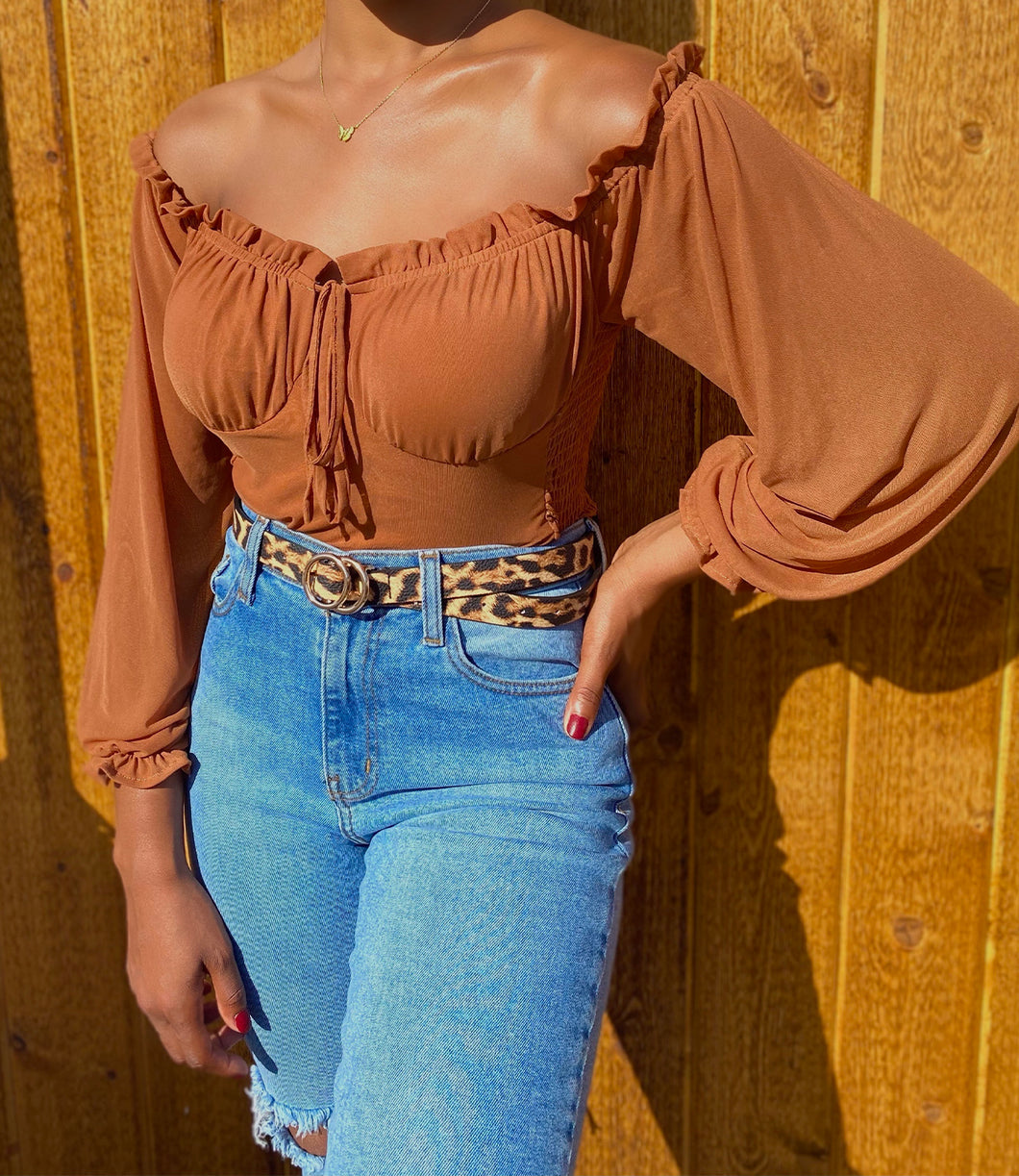 Macy Mid Sleeve Top(Topaz)