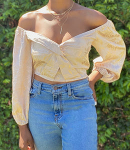 Magnolia Mid Sleeve Top(Golden)