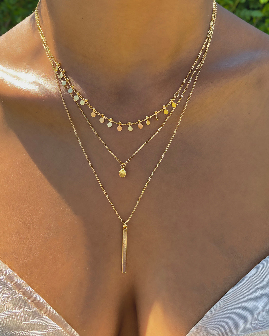 3 Layered Necklace(Gold)