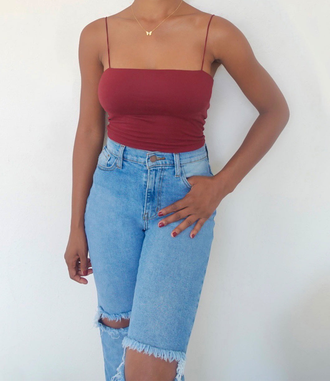 Lucy Top(Burgundy)