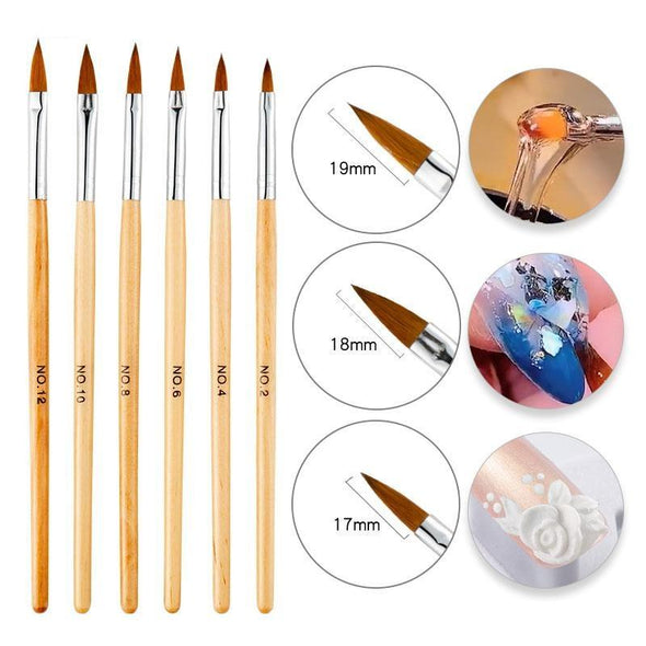 Markoon Acrylic Nails Brush Set (5pcs)