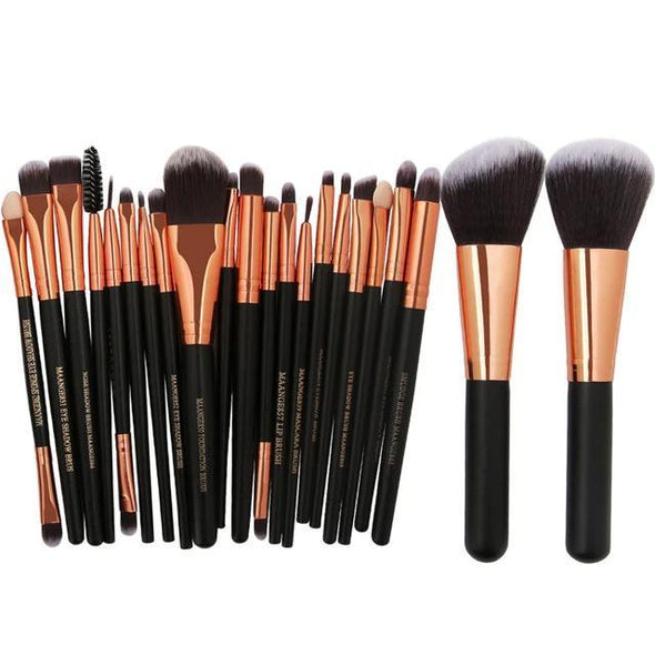 Markoon Black Golden Perle Makeup Brushes Set (22 pcs)