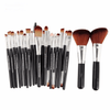 Markoon Black Silver Perle Makeup Brushes Set (22 pcs)