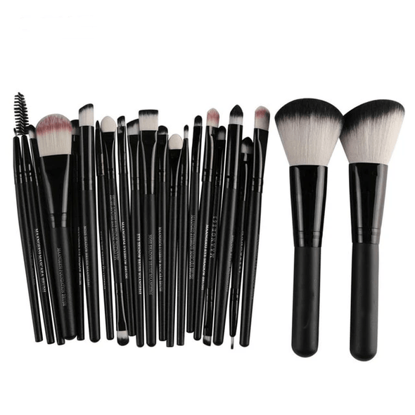 Markoon Just Black Perle Makeup Brushes Set (22 pcs)