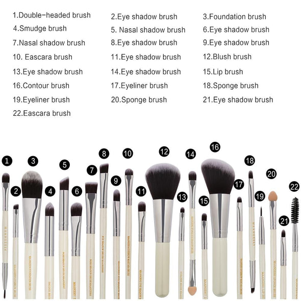 Markoon Perle Makeup Brushes Set (22 pcs)