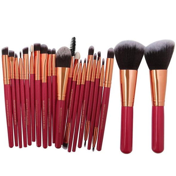 Markoon Red Golden Perle Makeup Brushes Set (22 pcs)