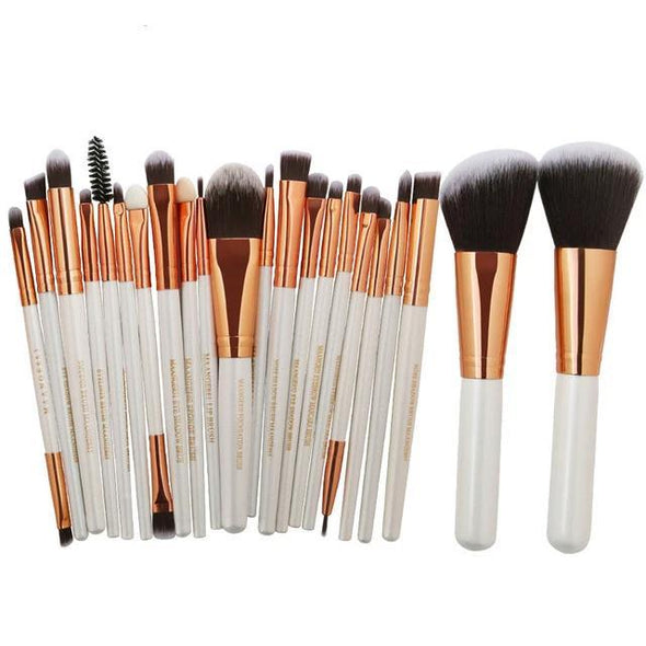 Markoon White Golden Perle Makeup Brushes Set (22 pcs)