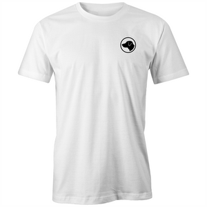 white  t-shirt black lab logo