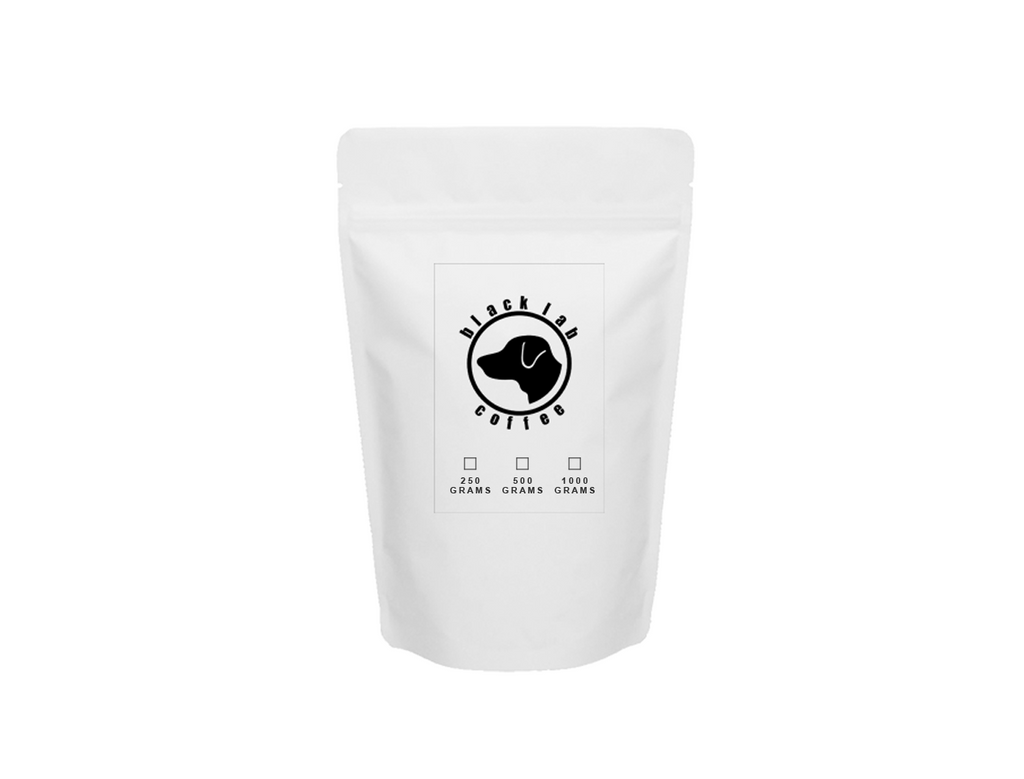 Coffee bag white with dog logo