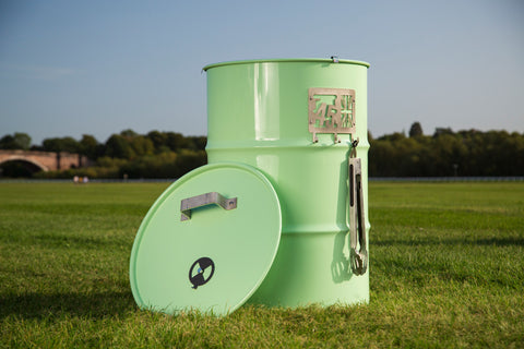 Pretty Green 45 Gallon Drum BBQ