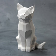 Load image into Gallery viewer, FACETED CAT FIGURINE