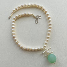 Load image into Gallery viewer, Garden Freshwater Baroque Pearl and Chalcedony Necklace