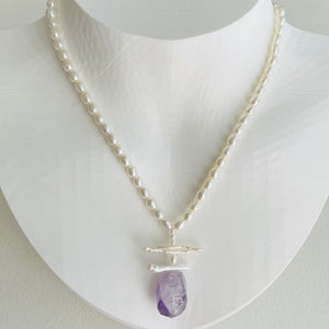 Garden Freshwater Pearl and Amethyst Necklace