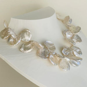 Garden Flower Petal Pearl Necklace