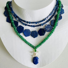 Load image into Gallery viewer, Capri Hexagonal Lapis Necklace
