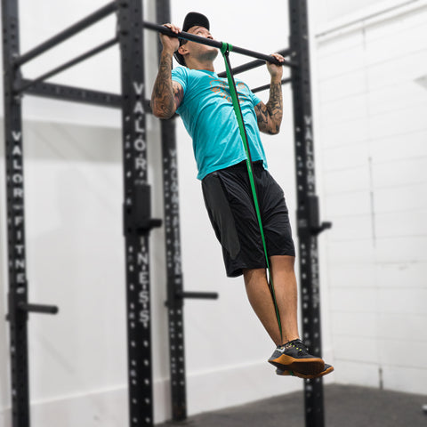 Assisted pull-up with resistance band Valor Fitness