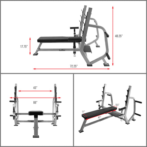 Valor Fitness BF-49 | Olympic Bench Press Station