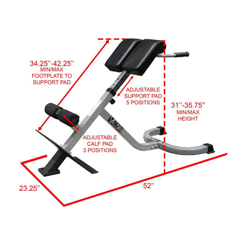 Valor Fitness CB-13 | Adjustable Back Extension