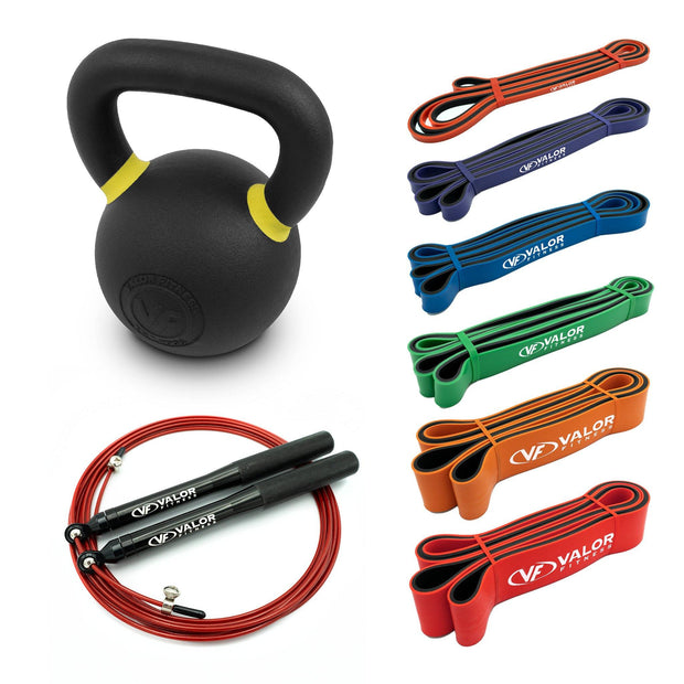 Valor Fitness KIT-KB1 | Home Gym Kettlebell Kit - Valor Fitness