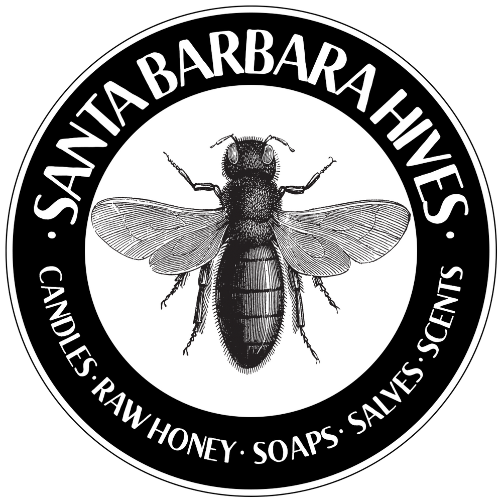 Santa Barbara Hives. Local honey, hand rolled and hand poured beeswax candles, custom scents, soaps and salves.