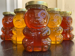 Santa Barbara Hives Honey in Glass Bear Jar