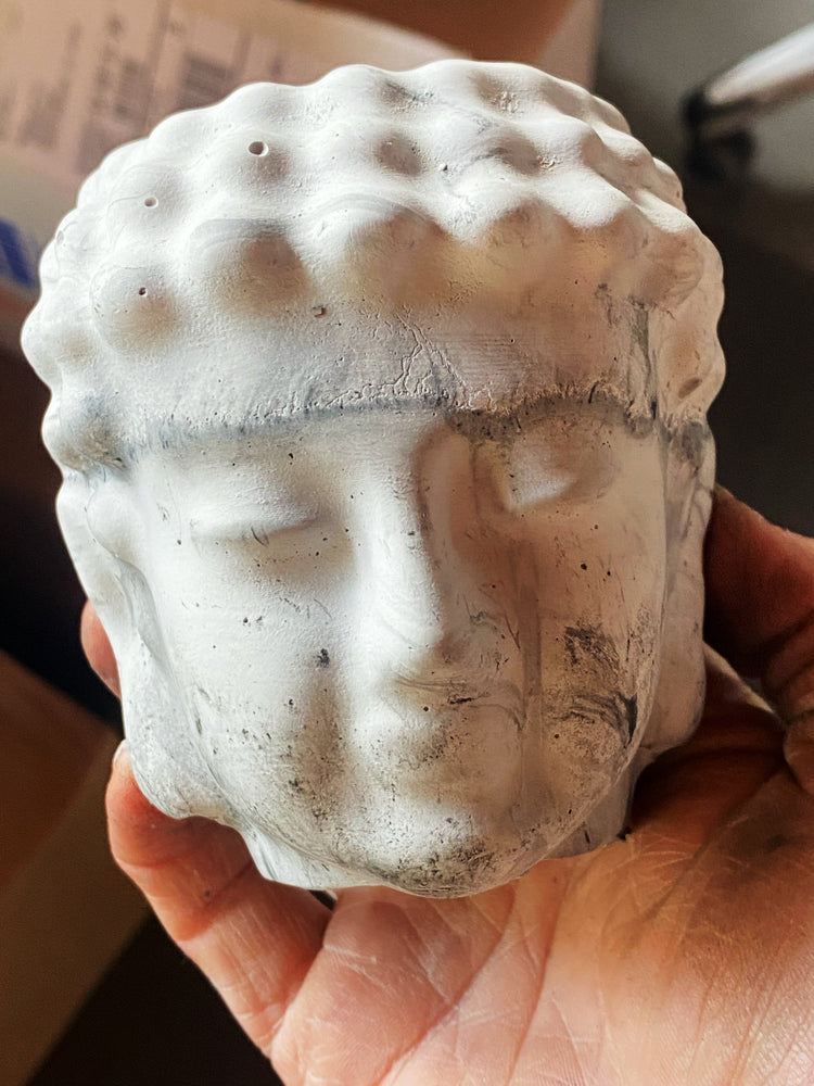 Buddha Head Planter Candle