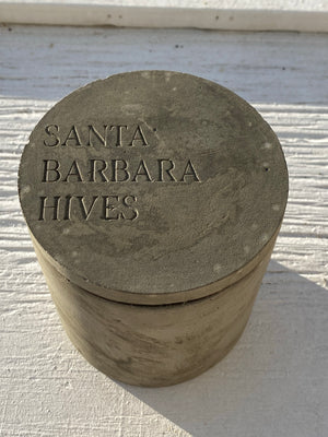 Load image into Gallery viewer, Santa Barbara Hives Cement Beeswax Candle