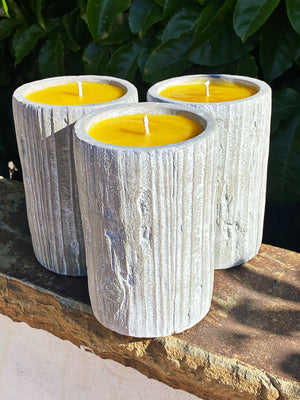 Beeswax Cement Pillar Candle