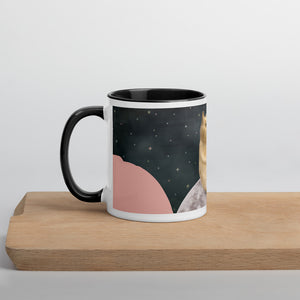 Kitten in Space Mug with Colour Inside