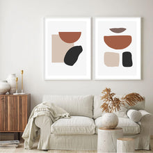 Load image into Gallery viewer, Abstract Geometric Canvas Wall Art Print