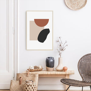 Abstract Geometric Canvas Wall Art Print