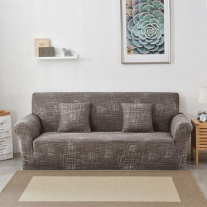 String Printed Sofa Cover 1/2/3/4-seater