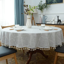 Load image into Gallery viewer, Round Linen Table Cloth