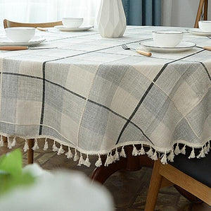 Round Linen Table Cloth