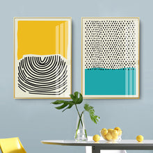 Load image into Gallery viewer, Modern Multicolored Abstract Geometric Wall Art Canvas Print
