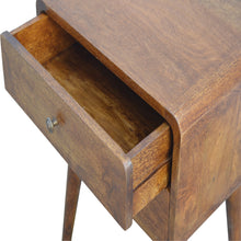 Load image into Gallery viewer, Handcrafted Curved Chestnut Bedside