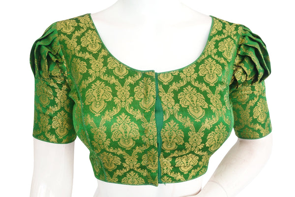 Brocade Silk Designer Readymade Blouse with Puff sleeves