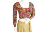 Kalamkari Designer Readymade Blouse with Full sleeves