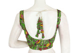 Kalamkari Readymade saree blouse With Beautiful Tassels, Indian Cotton Readymade blouse