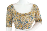 Kalamkari 3/4th Sleeves Readymade blouse