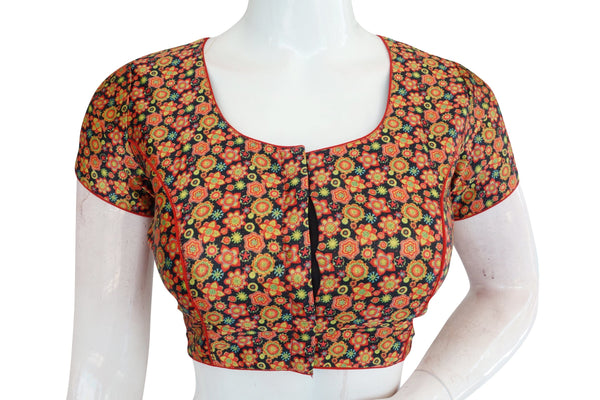 Printed Silk Designer Readymade Blouse