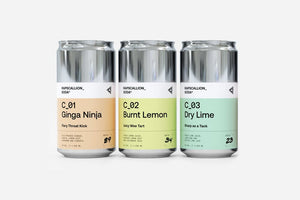 C_ Three | Ginga + Lemon + Lime | Core Mixed 12 Pack