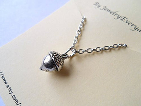 Acorn Necklace & Thimble Keychain: Peter Pan Kiss