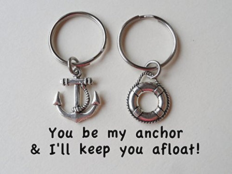 Anchor & Life Saver Keychain Set