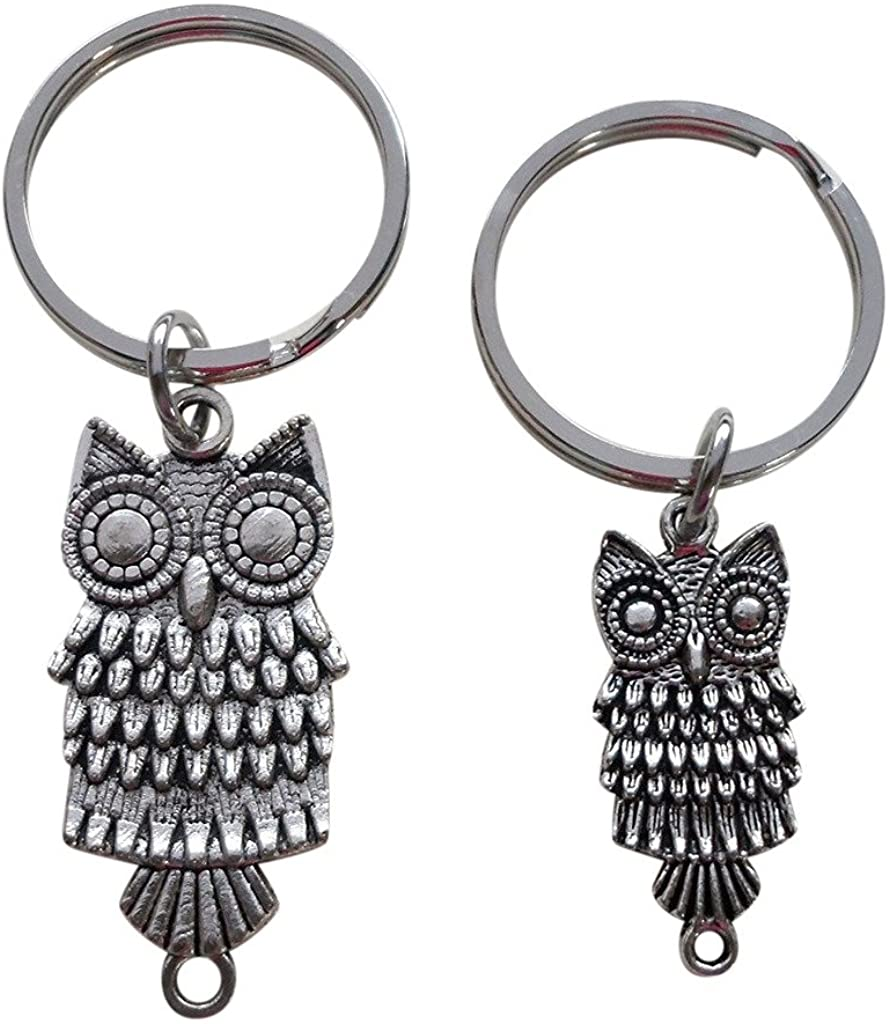 Mother and Daughter or Father and Son Owl Keychains - Owl Always Love You
