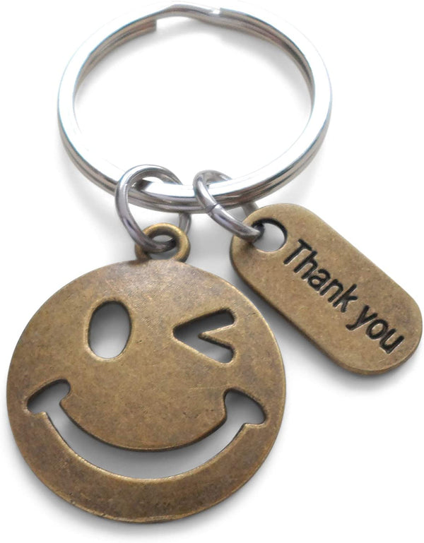 Bronze Smiley Face Volunteer Appreciation Gift - Thanks for Being a Joy to Work With, Thank You Gift